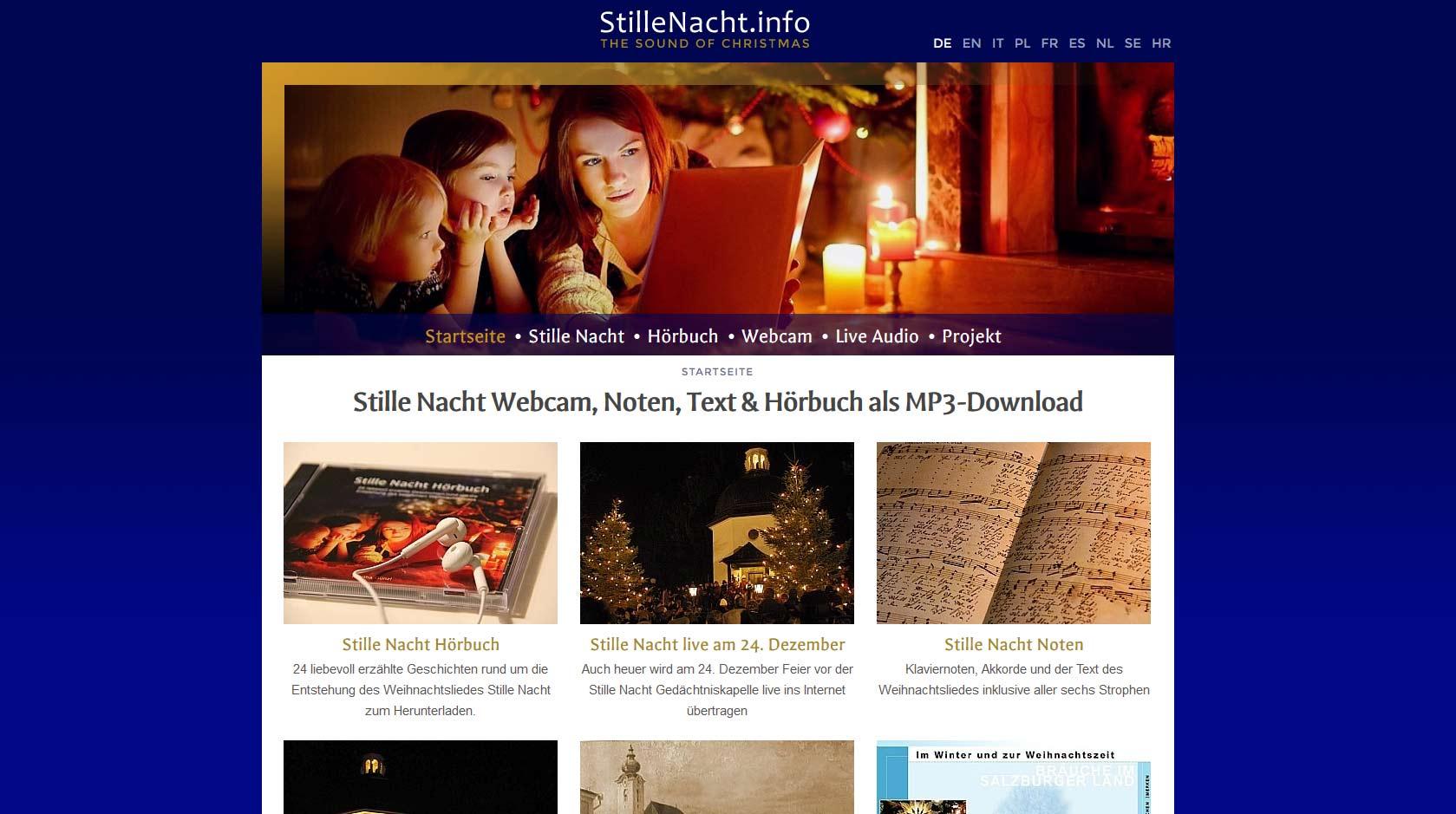 Stille Nacht Heilige Nacht: MP3 Noten Texte Downloads Klaviernoten ...